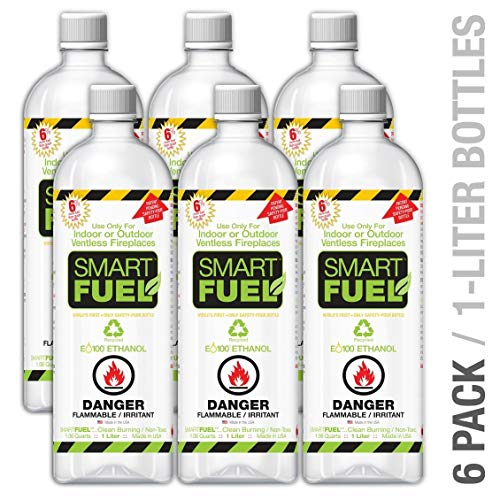 Smartfuel Pourable Liquid Bio-ethanol Fireplace Fuel 1/2 Case (6 Liters)
