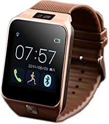 Dz09 Smartwatch Bluetooth Camera Built-in Support Sim Card & Support Sd Card 32gb (Gold)