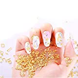 Hollow Gold Nail Studs Multiple Styles Exquisite