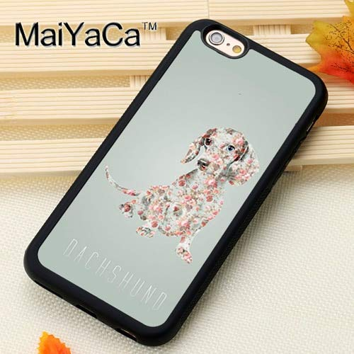 1 piece MaiYaCa Cute Dachshund Dog Printed Mobile Phone Cases Accessories For iPhone 6S 7 8 Plus X XR XS MAX 5S SE Soft TPU Back Cover