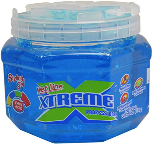 Xtreme Professional Wet Line Styling Gel Extra Hold Blue, 35.26 oz (Pack of 2)