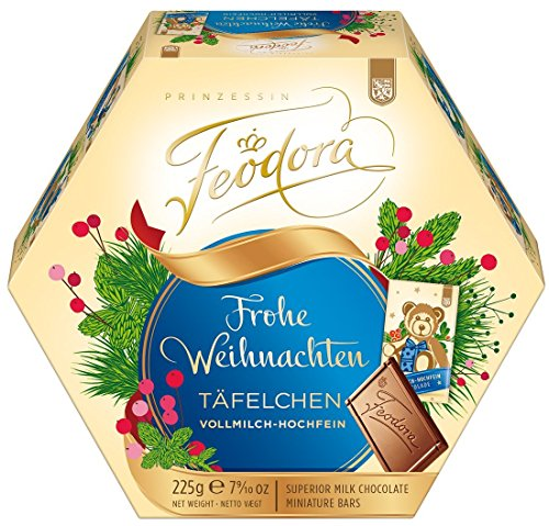 Feodora Christmas chocolate bar milk Hochfein 225g
