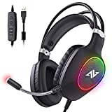 ABKONCORE Gaming Headset with Noise-canceling