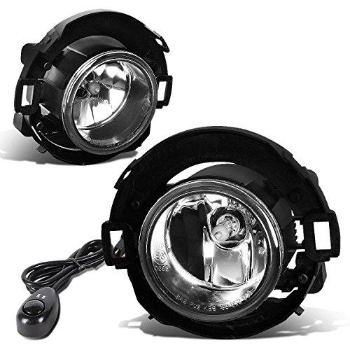 For Nissan 05-15 Xterra / 08-15 Frontier Pair of Bumper Driving Fog Lights + Switch (Clear Lens)