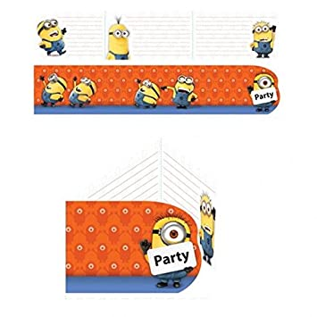 NEU Einladungskarten Minions, 6 Stück