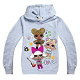 Dgfstm Teen Girls Spring Autumn Long Sleeve Hoody T Shirt Inspired Sweatshirt (grey1, 150(11-12years))