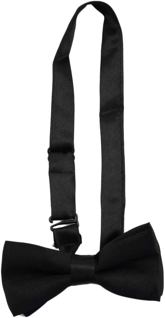 Rouku verstellbar und elastisch mit Metallklammern Polyester Kids Design Hosentr/äger und Bowtie Fliege Set Matching Ties Outfits