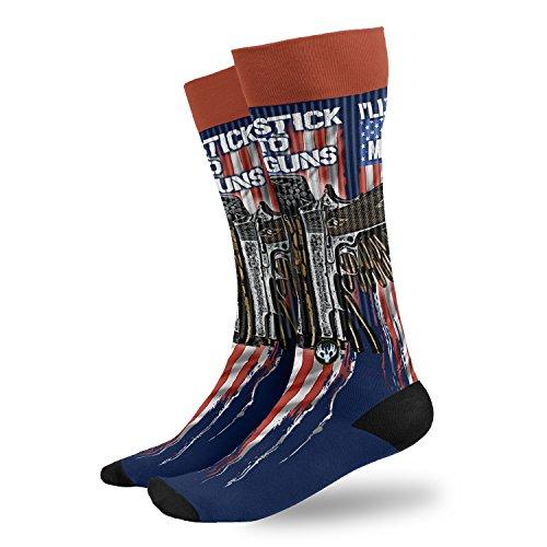 Buck Wear 3013 Buckwear Stick to My Guns Sock, Size (9-15)