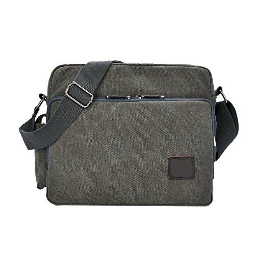 Bag Gray Business Men Shoulder Laptop Crossbody Travel For Canvas Vintage Casual Multicolor Boy Messenger nUwqXpp
