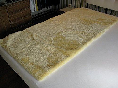 Medizinische Lammfell Betteinlage Bettfell Schaffell Vollfell 80x180cm (medizinisch gegerbt)