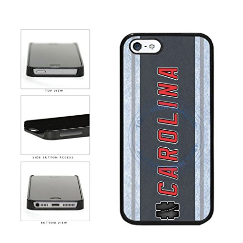 (BleuReign(TM) Hockey Team Hashtag Carolina #Carolina Plastic Phone Case Back Cover For Apple iPhone 5 5s and iPhone SE)