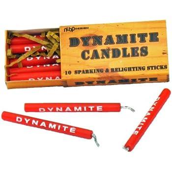 Birthday Candle Set Dynamite Stick Of 10