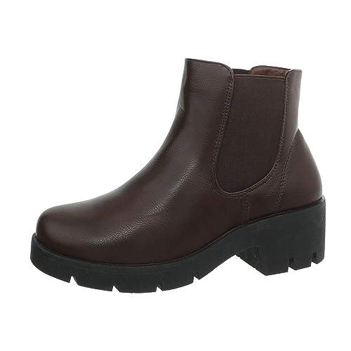 a58c4cd2 Zapatos para mujer Botas Tacón ancho Classic Botines Ital-Design:  Amazon.es: Zapatos y complementos