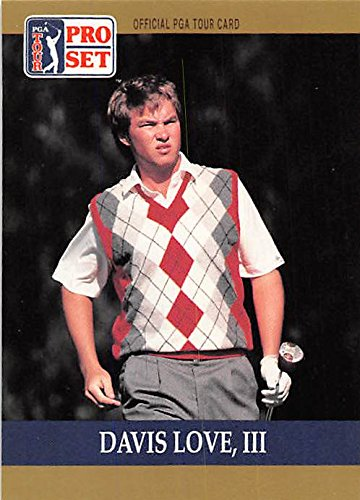 Davis Love III trading card (Golf Golfer PGA University of North Carolina) 1990 Pro Set #56