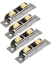 uxcell 12mmx8mm Double Rollers Sliding Door Window Sash Pulley Wheel 4pcs