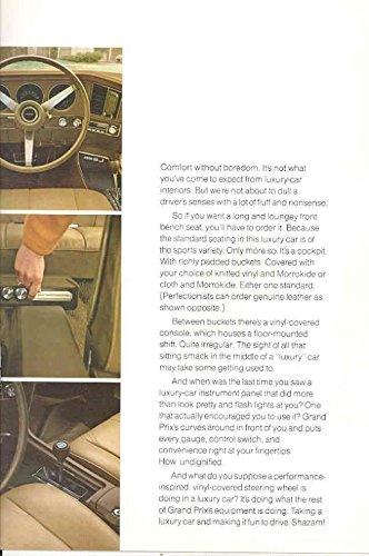1970 Pontiac Grand Prix Prestige Sales Brochure