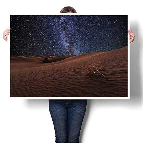Canvas Wall Art Romantic Oil Painting Mars Themed Surreal Surface of Gobi Desert Dune Oasis Lunar Adventure Prints on Canvas Painting,52