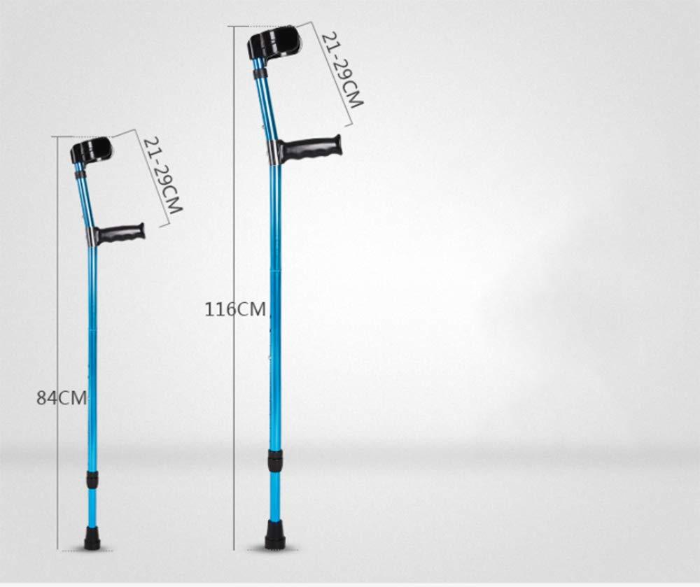 Walking stool stick stool Walking Ellenbogen, Achselarm, klappbare Doppelkrücken, Teleskop-Walker e3f101