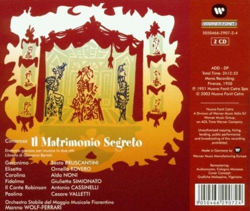 - Cimarosa: Il Matrimonio Segreto - Amazon.com Music