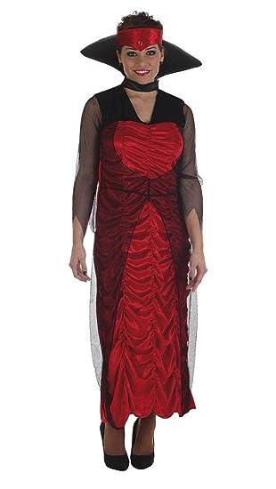 Creaciones Llopis Disfraz Adulto Vampira Lady TINIEBLAS ...
