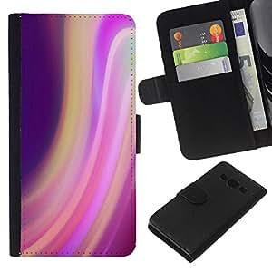 KingStore / Leather Etui en cuir / Samsung Galaxy A3 / Violet Lumières Blur Colorful