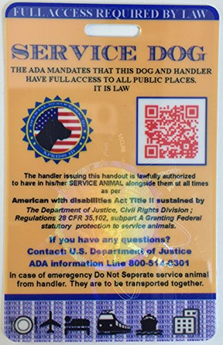Xpress ID Service Dog ID Card   Includes Registration to National Dog Registry by Xpress ID (Image #1)
