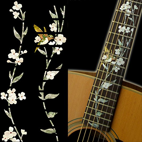Fretboard Markers Inlay Sticker Decals for Guitar - Tree Of Life w/Hummingbird