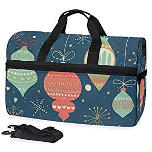 Retro Colors Decorations Gym Bag with Shoes Compartment Sports Swim Travel Overnight Duffels