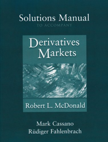 Solutions Manual to accompany Derivatives Markets