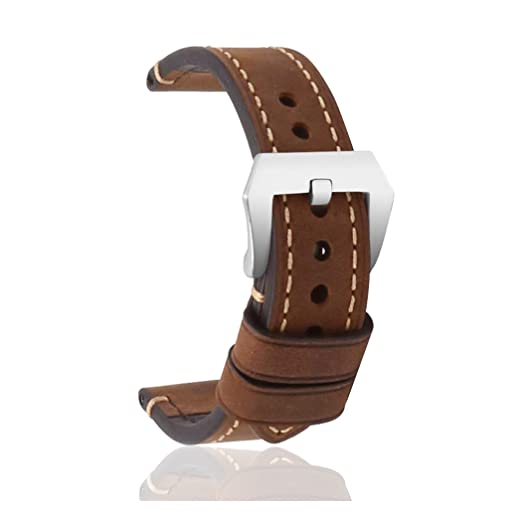 94 opinioni per omyzam Cinturino Vintage per Orologio Vero Cuoio Ricambio con Grande Fibbia