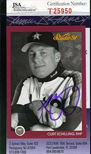 CURT SCHILLING 1991 STUDIO JSA COA Hand Signed Authentic Autographed