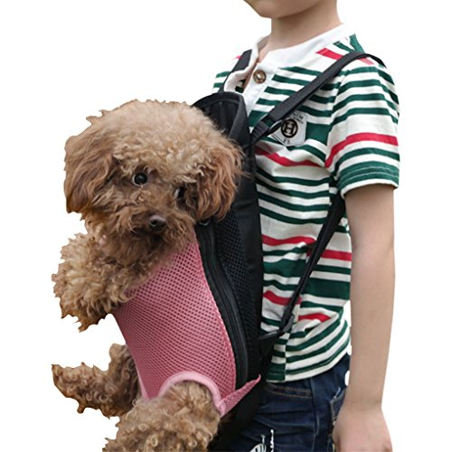 FakeFace Dog Cat Outdoor Travel Front Carrier Bag Backpack, Small Net Bag for Pet