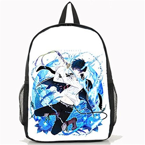Blue Costume Rin Exorcist (YOYOSHome Anime Blue Exorcist Cosplay Shoulder Bag Bookbag Daypack Backpack School)