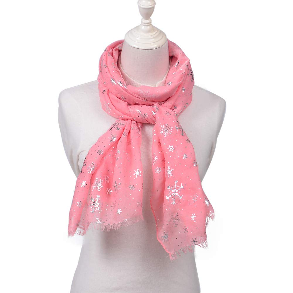 Allywit Scarf for Women Lightweight Xmas Snowflake Fashion Fall Winter Scarves Shawl Wraps