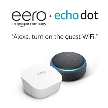 Charcoal with free Echo Dot eero mesh WiFi system 3-pack
