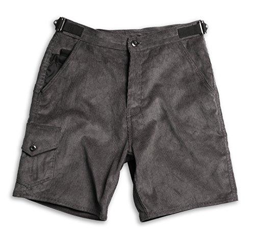 Birdwell Men's Cotton Corduroy Shorts (Grey, M)