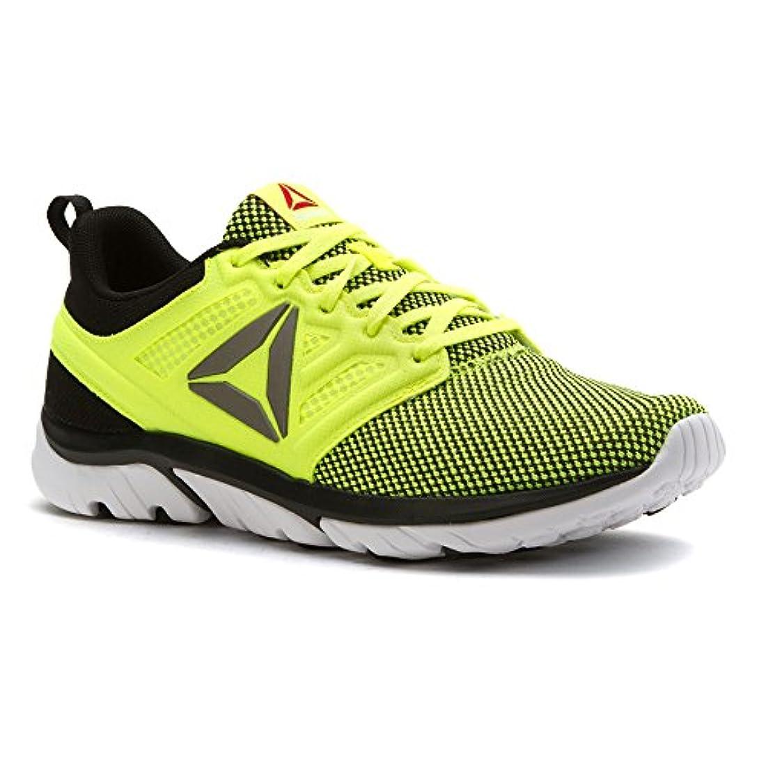 Reebok Mens Running Shoes Black/White/Solar Yellow