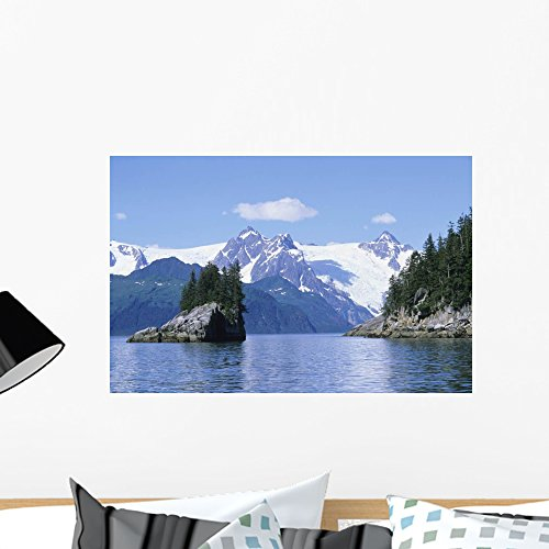 Bay Mural - Wallmonkeys Northwest Fjord Harris Bay Wall Mural Peel and Stick Graphic (24 in W x 16 in H) WM302689
