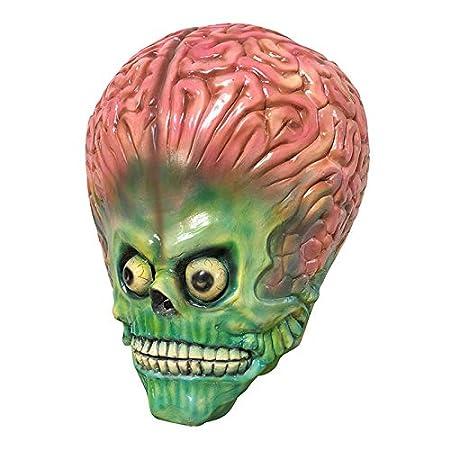 Scary Alien Brain Mask Latex Full Face Mask UFO Mars Cosplay ...