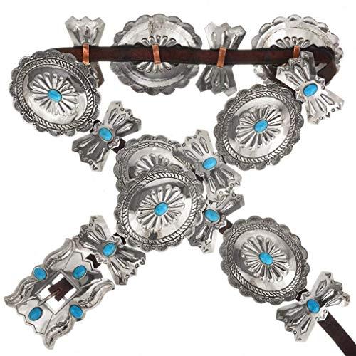 Amazon Jim Morrison Concho Belt Navajo Turquoise Silver