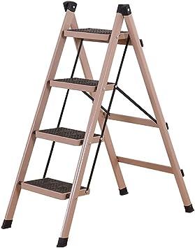 SED Escaleras de Mano Multiusos para el Hogar, Escalera Interior Silla Taburetes con Peldaños Escalera Plegable de 4 Peldaños para 265Lbs de Capacidad, Taburete Tipo X para Cocina/Oficina, Escalera: Amazon.es: Bricolaje y