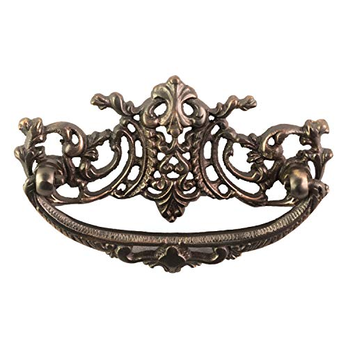 - The Kings Bay Vintage Victorian Style Cabinet Pull High Relief Bronze Age Finish