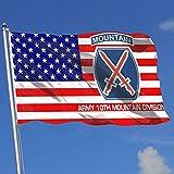 Wanghaojiemimi Us Army 10th Mountain Division 3x5 Foot Home Garden Decor Flag