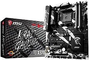 MSI X370 Krait Gaming Desktop Motherboard AMD Chipset, Socket AM4, ATX, 1 x Processor Support, 64 GB DDR4 SDRAM Maximum RAM, 2.93 GHz O.C, 2.40 GHz, 3.20 GHz O.C, 1.87 GHz, 2.13 GHz, 2.67 GHz