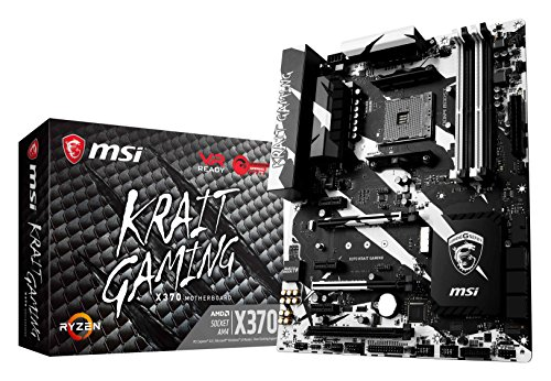 MSI Gaming AMD Ryzen X370 DDR4 VR Ready HDMI USB 3 SLI CFX ATX Motherboard (X370 KRAIT GAMING) (Msi Desktop Gaming Pc)
