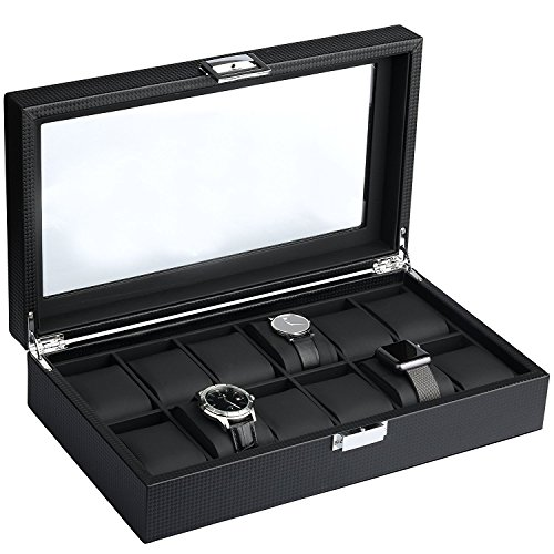 Mantello 12 Watch Display Organizer Carbon product image
