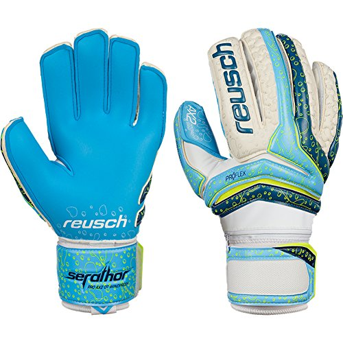 Mens Reusch Serathor Pro AX2 Ortho-Tec Windproof 8 Goalkeeper Gloves blue For Soccer (Ortho Tec Glove)