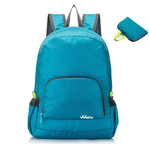 20L Outdoor Foldable Lightweight Backpack Daypack - Portable Hiking Travel Camping Backpack by Walls Home & Decoration (Ocean Blue)