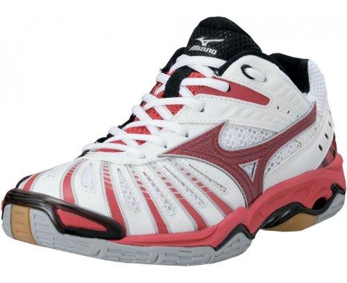 MIZUNO Wave Stealth 2 Zapatilla de Balonmano Señora, Blanco/Rojo/Negro, 38: Amazon.es: Zapatos y complementos