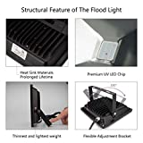 UV Black Light , Escolite 395nm Ultraviolet LED Flood Light Outdoor for Blacklight Run with Body Paint, UV Glow Party, Florescent Poster, Halloween, Stage Lighting (10W UV Flood Light)
